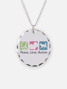 Peace, Love, Huskies Necklace