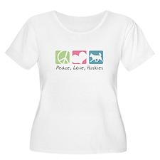 Peace, Love, Huskies T-Shirt