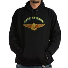 Navy - Navy Aviator Badge Hoody