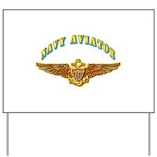 Navy - Navy Aviator Badge Yard Sign
