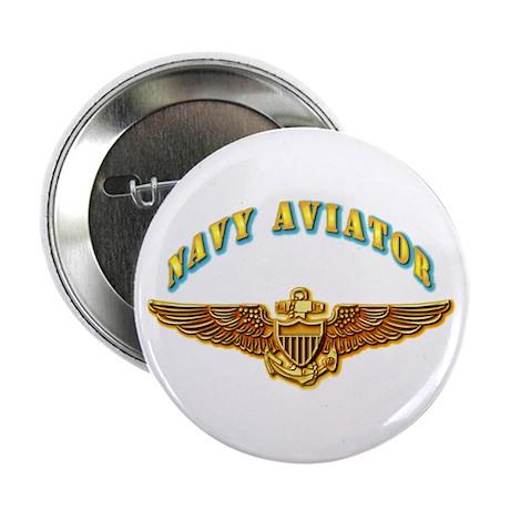 "Navy - Navy Aviator Badge 2.25"" Button"