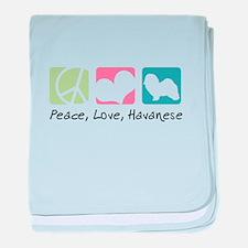 Peace, Love, Havanese baby blanket