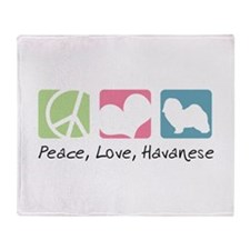Peace, Love, Havanese Throw Blanket