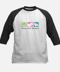 Peace, Love, Havanese Kids Baseball Jersey