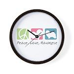 Peace, Love, Havanese Wall Clock