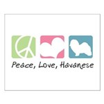 Peace, Love, Havanese Small Poster