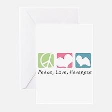 Peace, Love, Havanese Greeting Cards (Pk of 10)