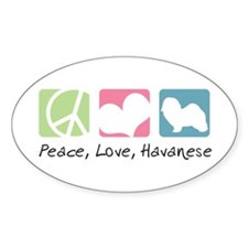 Peace, Love, Havanese Decal