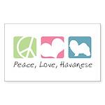 Peace, Love, Havanese Sticker (Rectangle 50 pk)