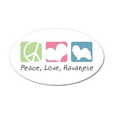 Peace, Love, Havanese 22x14 Oval Wall Peel