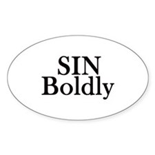 Sin Boldly Decal