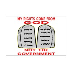 My Rights Come From God Posters