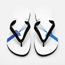 blue shower Flip Flops