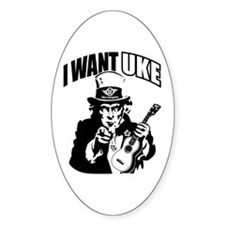 I WANT UKE 2 Decal