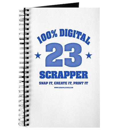 100% Digital Scrapper -Blue Journal