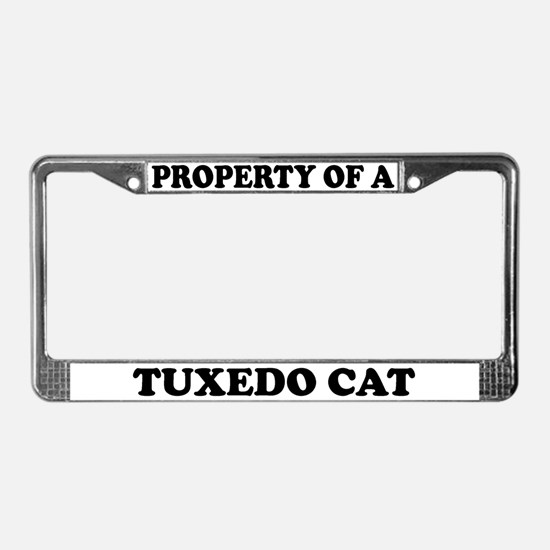 Property Of A Tuxedo Cat License Plate Frame