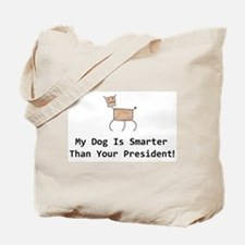 My dog is smarter than your Tote Bag