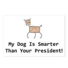 My dog is smarter than your Postcards (Package of