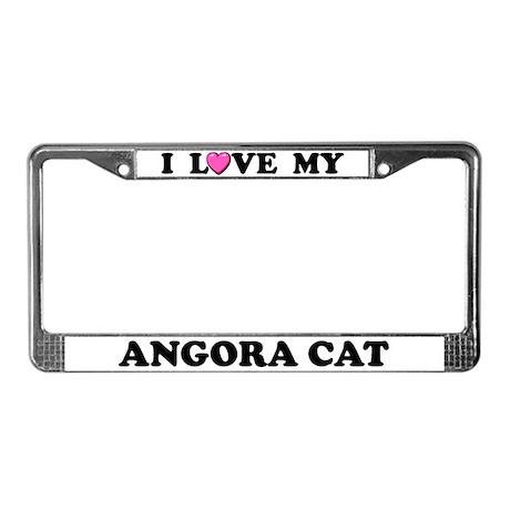 I Love My Angora Cat License Plate Frame