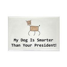 My dog is smarter than your Rectangle Magnet (100