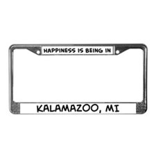 Happiness is Kalamazoo License Plate Frame