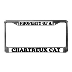 Property Of A Chartreux Cat License Plate Frame