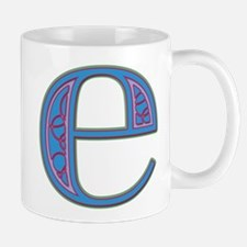 E Blue Glass Mug