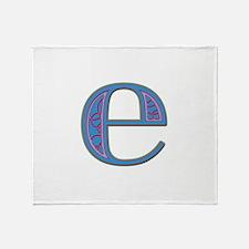 E Blue Glass Throw Blanket