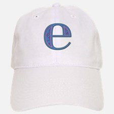 E Blue Glass Baseball Baseball Cap
