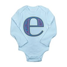 E Blue Glass Long Sleeve Infant Bodysuit