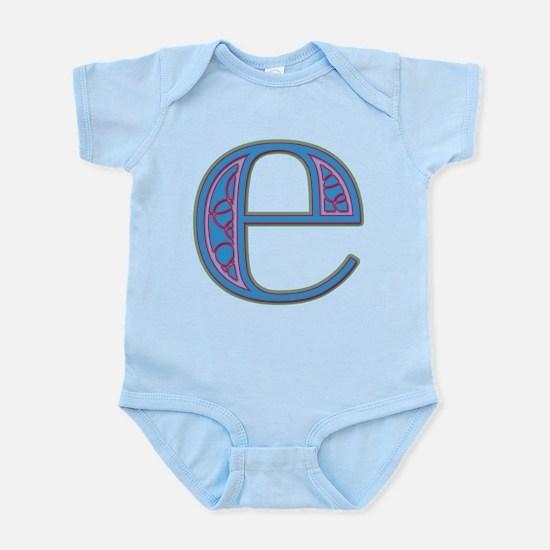 E Blue Glass Infant Bodysuit