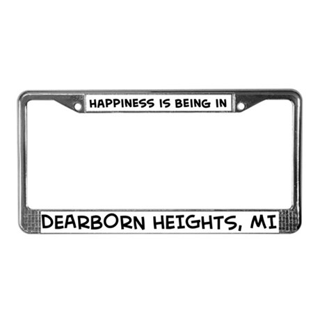 Happiness is Dearborn Heights License Plate Frame