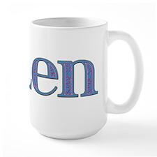 Ellen Blue Glass Mug