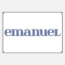 Emanuel Blue Glass Banner