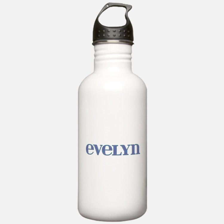 Evelyn Blue Glass Water Bottle