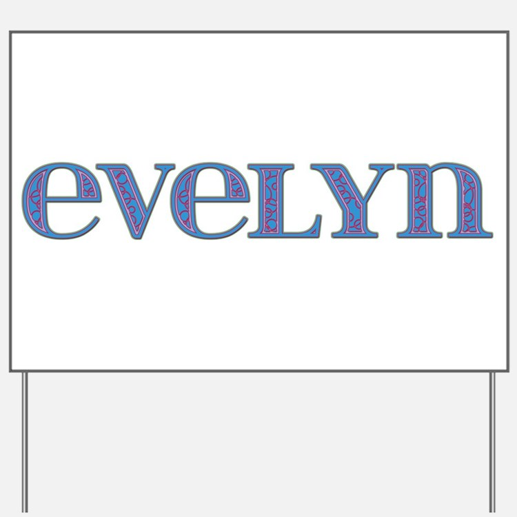 Evelyn Blue Glass Yard Sign