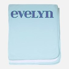 Evelyn Blue Glass baby blanket