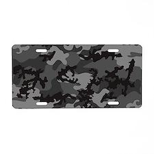Black Camo Aluminum License Plate