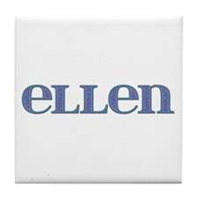Ellen Blue Glass Tile Coaster