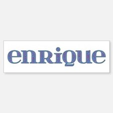 Enrique Blue Glass Bumper Bumper Stickers