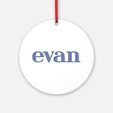Evan Blue Glass Round Ornament