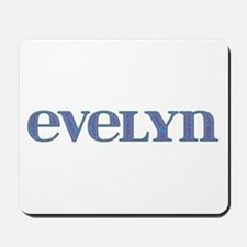 Evelyn Blue Glass Mousepad