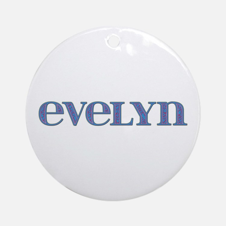 Evelyn Blue Glass Round Ornament