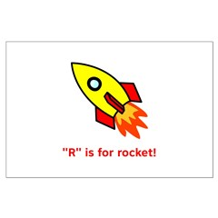 R is for Rocket Posters