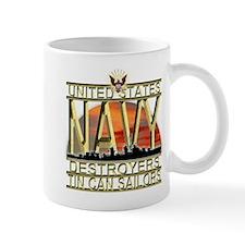 US Navy Destroyers Tin Can Sa Mug