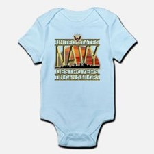 US Navy Destroyers Tin Can Sa Infant Bodysuit