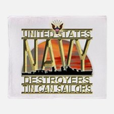 US Navy Destroyers Tin Can Sa Throw Blanket