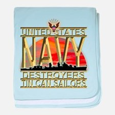 US Navy Destroyers Tin Can Sa baby blanket