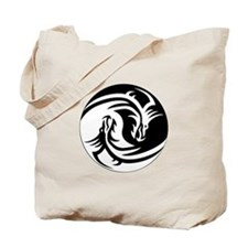 Dragon Ying Yang Tote Bag