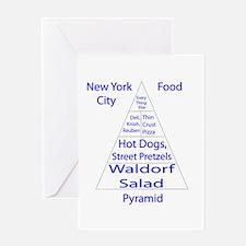 New York City Food Pyramid Greeting Card